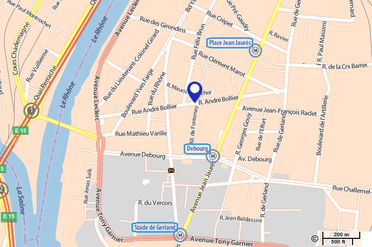 Plan Cabinet de Lyon - 63 rue André Bollier - 69007 - 7e arrondissement - Cabinet Social Stéphanie LADEL