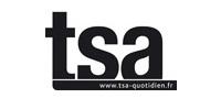 Logo TSA - Travail Social Actualités - Passages Médias - Cabinet Social, Stéphanie LADEL